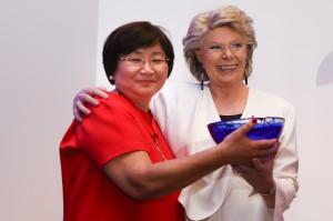 Viviane Reding, Roza Otunbayeva, Former President of Kyrgystan