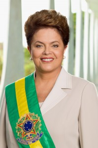 Brazil's first women and current President, Dilma Rousseff.