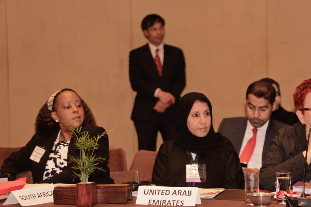 Hon. Elizabeth Thabethe, Deputy Minister of Small Business Development (South Africa), and H.E. Dr. Maitha Salem Al Shamsi, Minister of State (UAE).