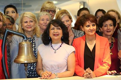 Euronext Irene and Minister Najat